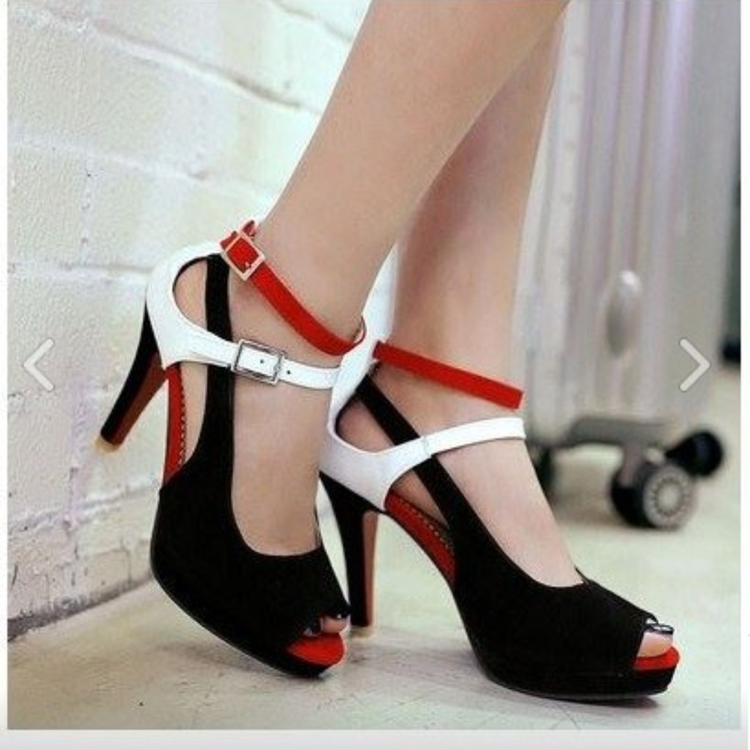 31397e0e3b8 Superior Quality Women High Heeled Sandals Sexy Red Bottom Pumps Ankle  Strap Sandals