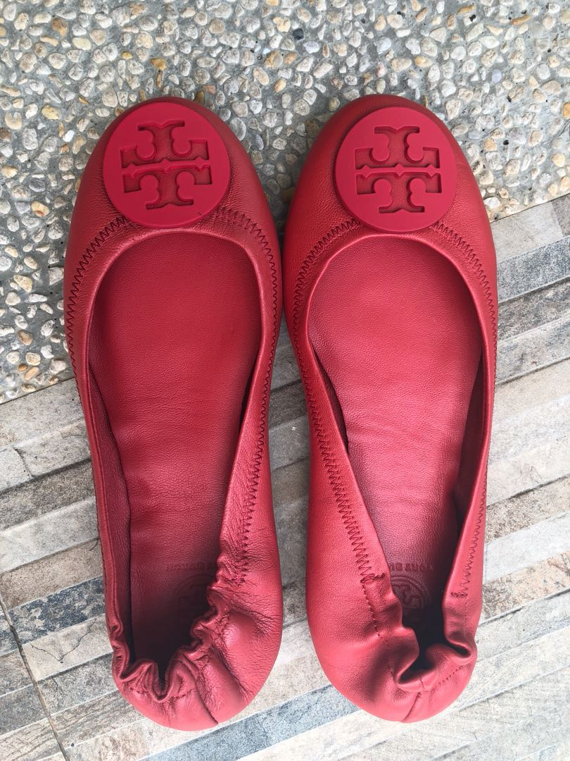 b6c75385943 Tory Burch Poppy Red Ballet Flats