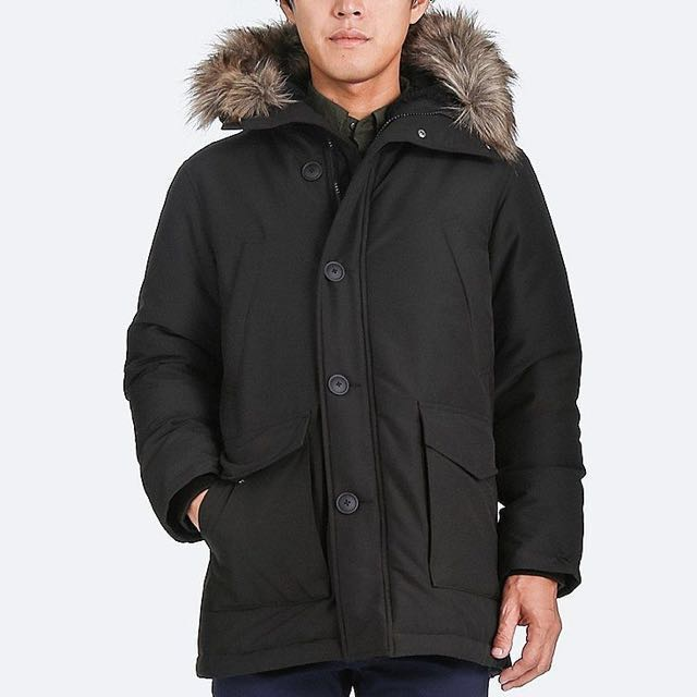 337c35102 Uniqlo 2017 Men's Ultra Warm Down Coat Navy color, Men's Fashion ...
