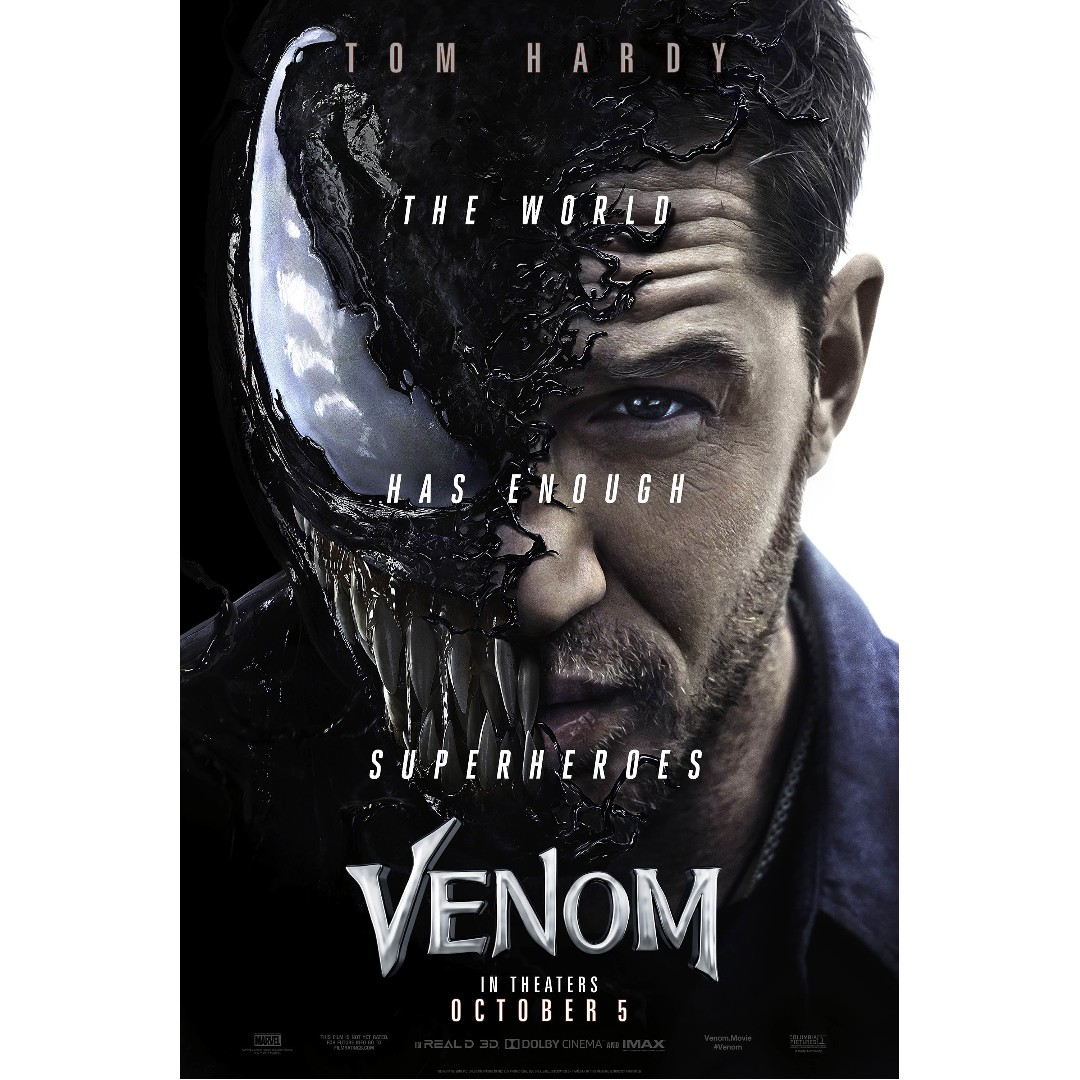 Venom Movie Poster, Design & Craft, Art & Prints On Carousell