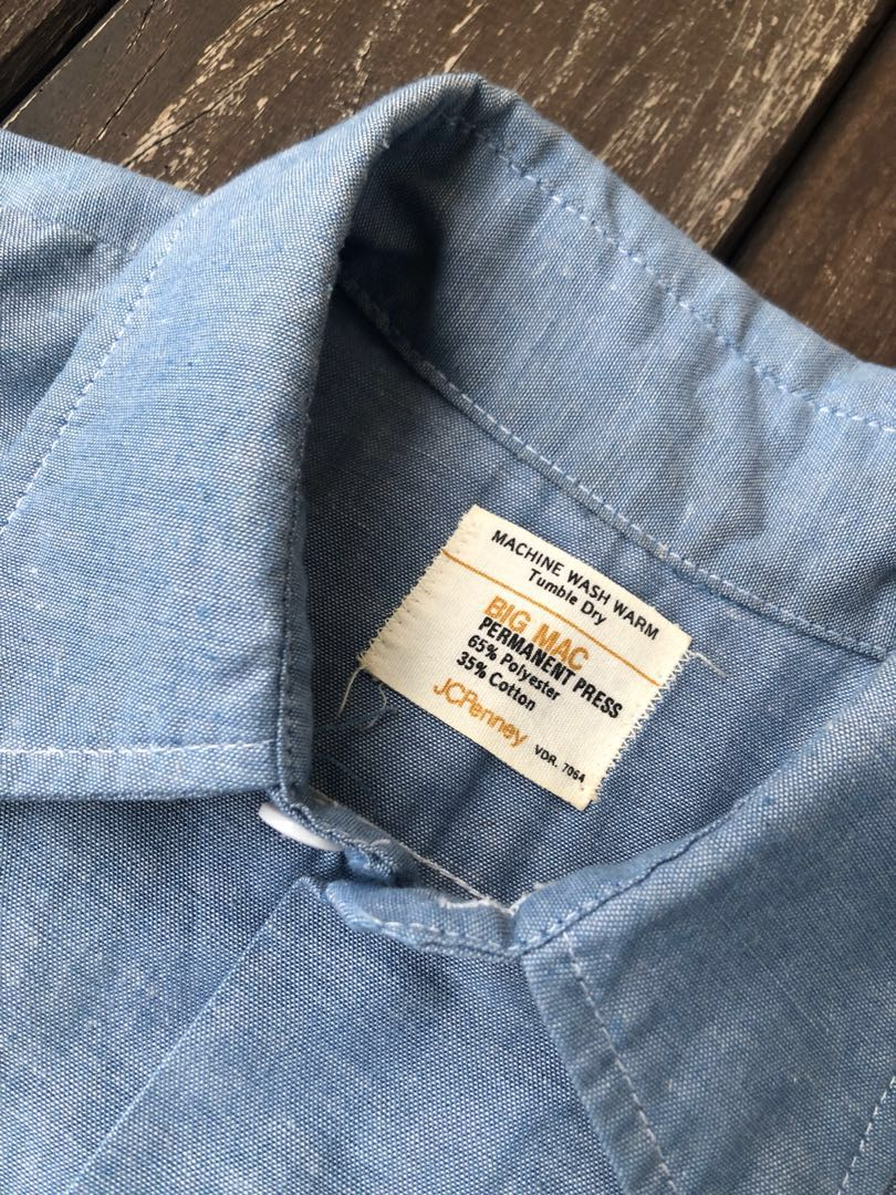 528a0194a1068 Vintage 70s Big Mac JCPenney Chambray