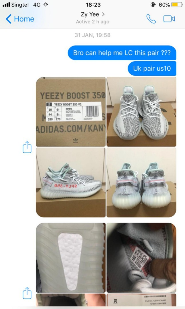55a6669f03a78 Yeezy Boost 350 V2 Blue Tints (LCed by yzy police)
