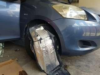 Toyota Vios Front Arch Wheel Soundproofing