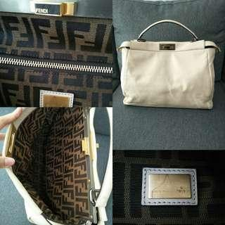 35d390fb8765 FENDI Peekaboo large size White