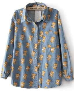 Simpsons denim outerwear