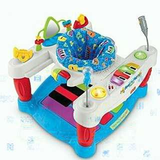 Preloved jumperoo fisher price step and play piano