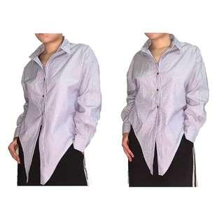 🚚 現貨 日本 修身 短襯衫 春夏 出清 風格 OL 率性 顯瘦 挺布 極簡