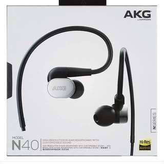AKG N40 High-resolution In-Ear Headphones With Customizable Sound (Silver) 入耳式 旗艦 HIFI 耳機
