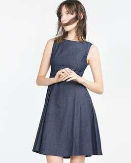 Zara VGC soft denim dress XS
