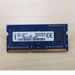 Kingston 4GB DDR3 1600Mhz Ram Laptop
