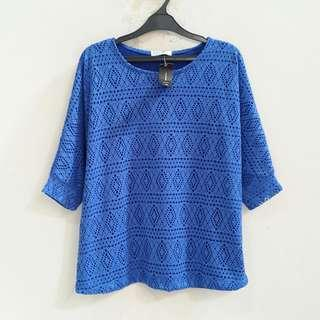 Blue Batwing Top