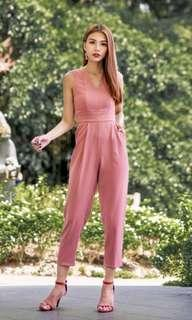 ALESSANDRA POCKET JUMPSUIT IN PINK