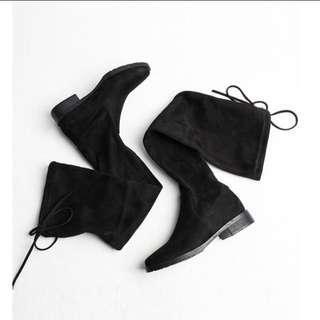 🚚 霧面不掉筒綁帶膝上靴👢 #九月女裝半價