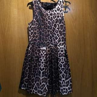 Topshop Leopard Print Dress