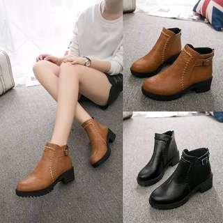 (35~43) British wind flat bottom ins Martin boots female short tube single boots children's shoes