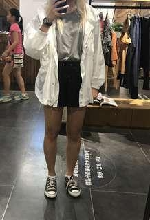 White rain jacket brand new