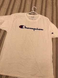 White Champion Tee Size Large