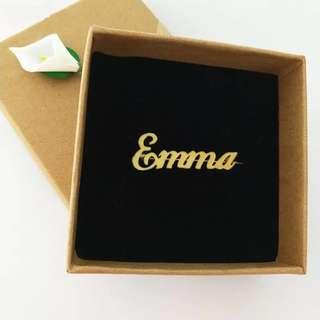 Custom name brooches