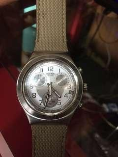 Swatch crono steel