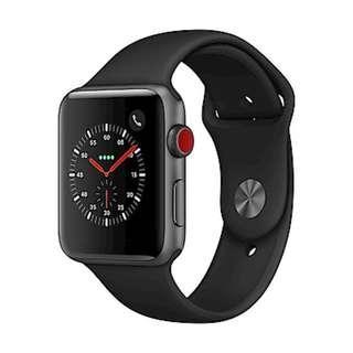發燒限量促銷 Apple Watch Series 3 LTE 42mm 太空灰色鋁金屬錶殼/黑色運動錶帶 台灣公司貨