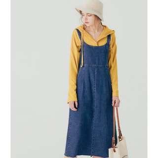 🚚 Pazzo 可愛設計感牛仔吊帶裙