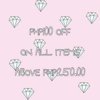 PHP100 OFF