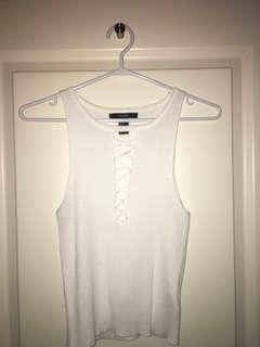 White ribbed shirt
