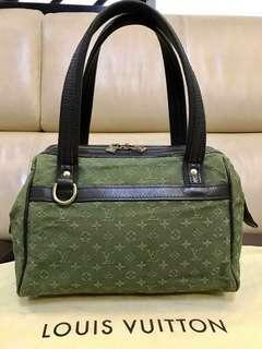 Authentic lv mini lin canvas josephine pm bag