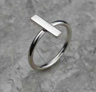 Sterling silver bar ring