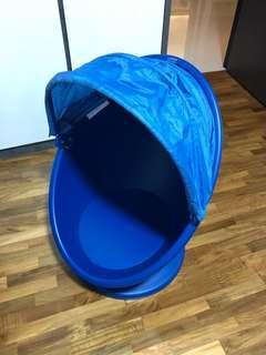 IKEA PS LÖMSK Swivel armchair , Blue with canopy