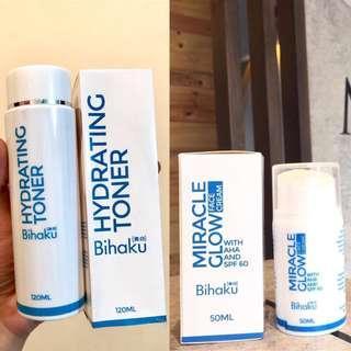 BIHAKU Hydrating Toner + Miracle Glow Cream