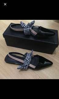 REPRICED! Bow sling back flats