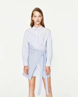 Zara Shirt Dress with Wrap Skirt