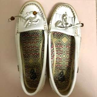 VANS White Loafers
