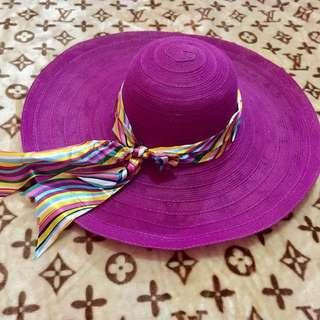 topi pantai purple 💞