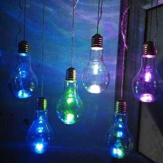 [New] LED Light Bulb Bottle 500ml (Glass /Plastic)