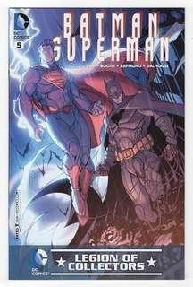 Limited Edition Batman Superman #5 comics exclusive variant cover with FREE Armored Batman Pop Socket