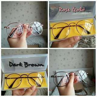 Spectacles 👓 Eyewear Rayban Round Metal Design (can put power)