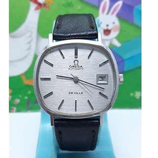 瑞士原裝亞米茄OMEGA日期顯示,原裝龍頭,不繡鋼自動上鍊機械男錶
