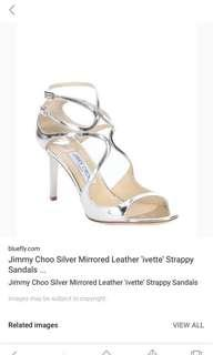 Jimmy choo mirror leather sandals sz 35.5