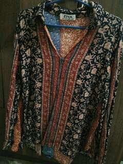 Asian eastern hippie inspired long sleeves top