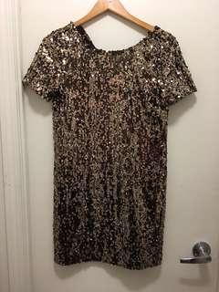 Ark co brand dress from honey gold colour sz s