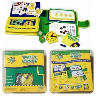 Learning Resources Math - Time & Money Activity Set