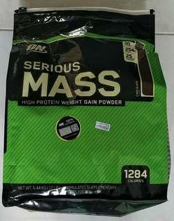 Brand New ON Serious Mass 12Ibs Chocolate