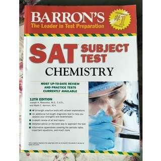 🚚 Barron's SAT Subject Test Chemistry 12th Edition
