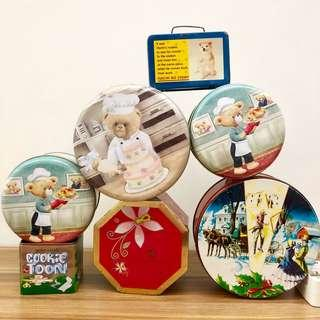 BN Set of 7 Collectible Tins