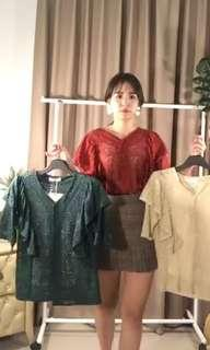 NEW Lace Korea Ruffle Top