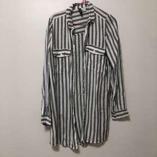 H&M Striped Shirt Dress