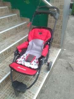 Stroller boston merah pliko