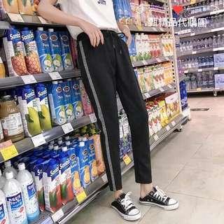 🚚 (現貨)寬鬆運動風顯瘦鬆緊腰哈倫褲
